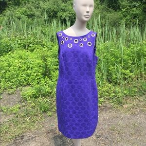Anthropologie Taylor Purple Shift Dress Size 14